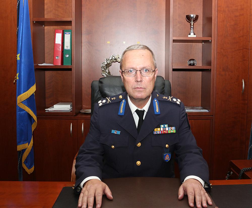 Έκφραση συγχαρητηρίων στον Αρχηγό του Πυροσβεστικού Σώματος Αντ/γο Τερζούδη Σωτήριο.