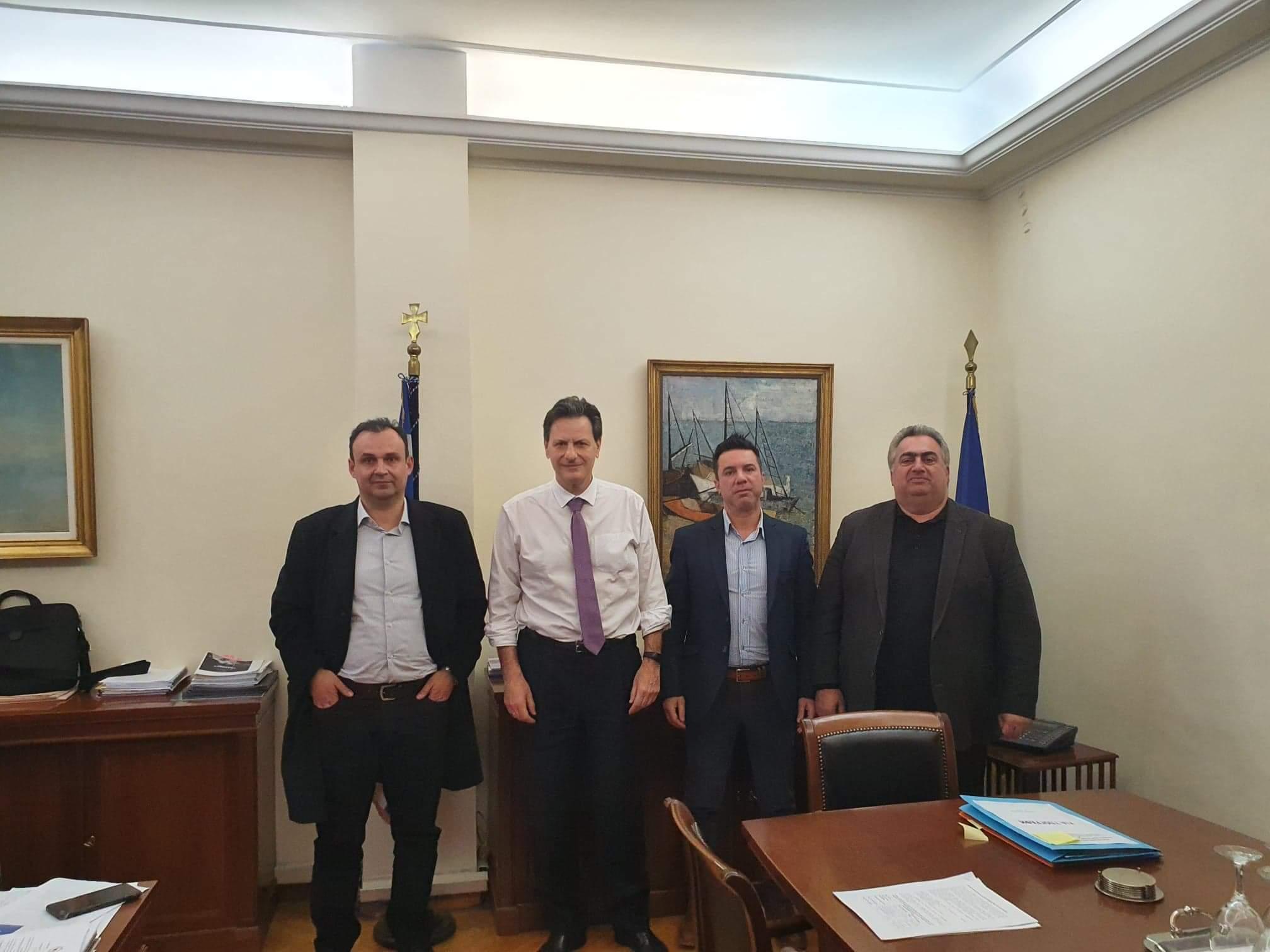 Συνάντηση με τον Υφυπουργό Οικονομικών κ. Θόδωρο Σκυλακάκη.