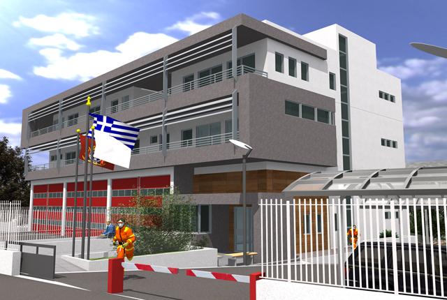 Κτιριακές υποδομές υπηρεσιών του Πυροσβεστικού Σώματος.