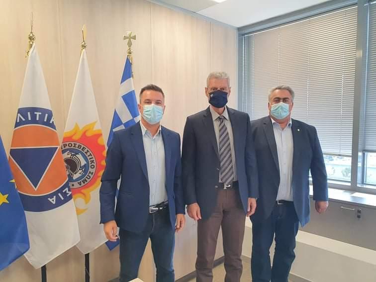 Συνάντηση με τον νέο Υφυπουργό Κλιματικής Κρίσης και Πολιτικής Προστασίας κ. Ευάγγελο Τουρνά.